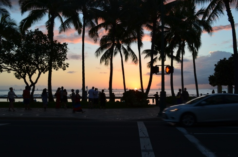 Sunset over Waikiki